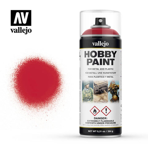 VALLEJO AEROSOL PAINT BLOODY RED HOBBY SPRAY PAINT 400ML AV28023