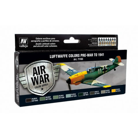 VALLEJO RLM COLOURS 1 (8) MODEL AIR SET AV71165