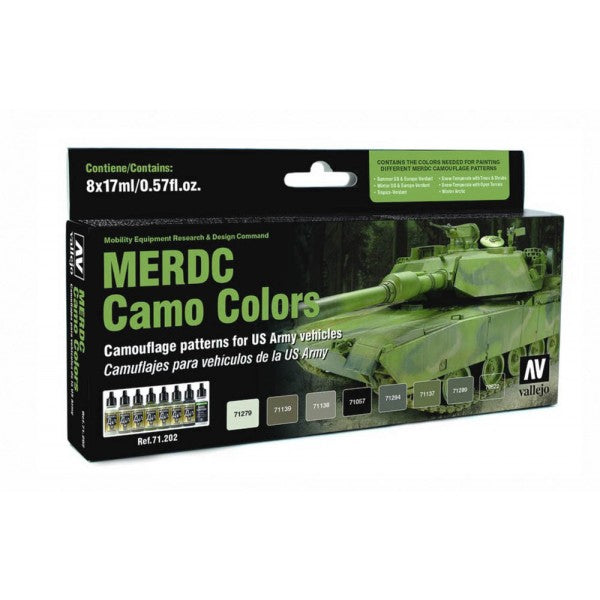 VALLEJO MODEL AIR MERDC CAMO COLOURS  AV71202