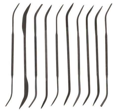 VALLEJO TOOLS BUDGET RIFFLER (CURVED) FILE SET (10)  T03003