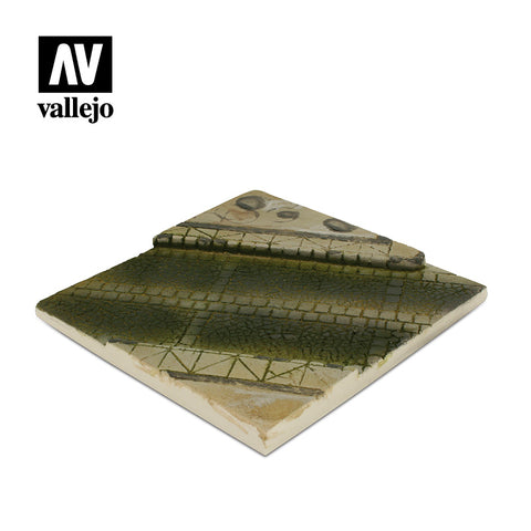 VALLEJO 1/35 SCENIC PAVED STREET SECTION DIORAMA BASE SC001