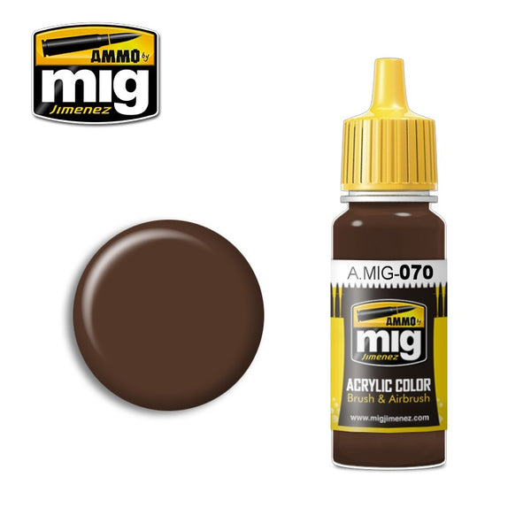 AMMO OF MIG MEDIUM BROWN PAINT 17ML  AMIG0070