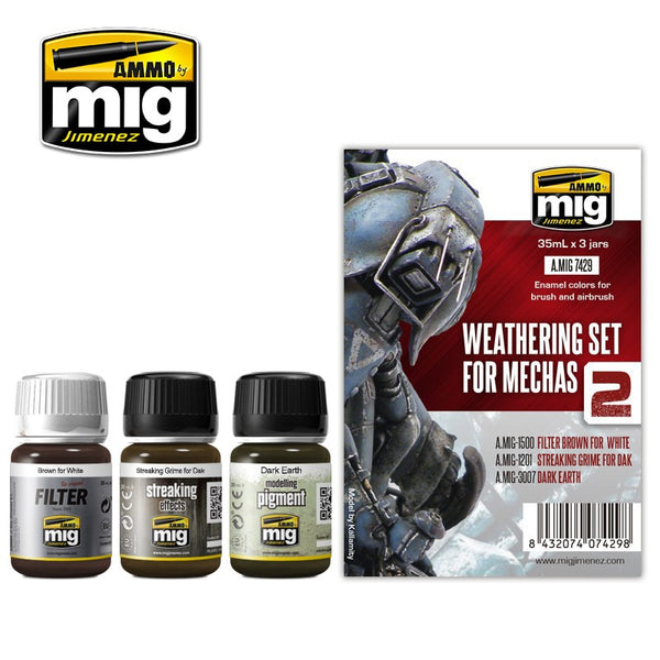 MIG AMMO WEATHERING SET FOR MECHAS 2   AMIG7429