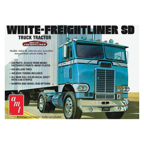 1/25 AMT WHITE-FREIGHTLINER SD TRACTOR AMT1004