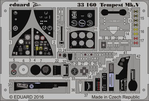 1/32 TEMPEST MK.V COCKPIT ZOOM SET FOR SPECIAL HOBBY KIT