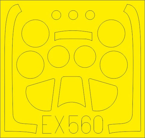 1/48 EDUARD P-51D MASK SET FOR AIRFIX KIT EX560