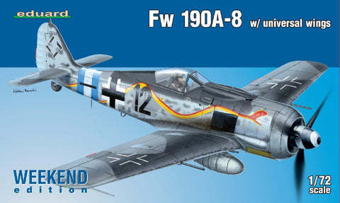 1/72 EDUARD FW190A-8 W/UNIVERSAL WINGS WEEKEND EDITION ED7443