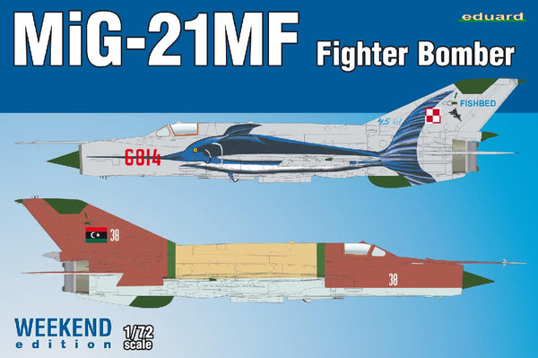 1/72 EDUARD MIG-21MF FIGHTER BOMBER WEEKEND EDITION ED7451