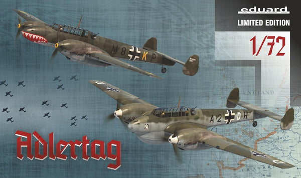 "1/72 EDUARD ""ALDERTAG"" BF 110C/D IN THE BATTLE OF BRITAIN LIMITED EDITION ED2132"