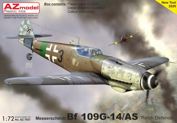 "1/72 AZ MODELS MESSERSCHMITT BF 109G-14/AS ""REICH DEFENCE"" AZ7647"