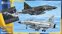 "1/72 SPECIAL HOBBY SAAB 37 VIGGEN ""DUO PACK AND BOOK"" SH72411"