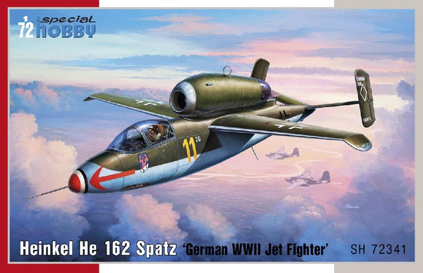 "1/72 SPECIAL HOBBY HEINKEL HE 162 SPATZ ""GERMAN WW2 JET FIGHTER"" SH72341"
