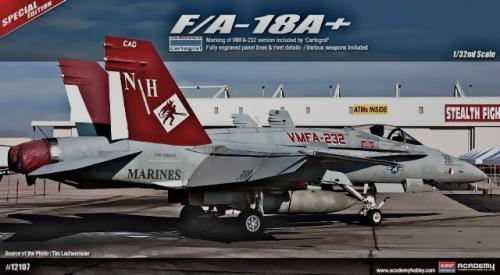 1/32 ACADEMY USMC F/A-18A+ WMFA-232 ALSO WITH RAAF DECALS ACA12107
