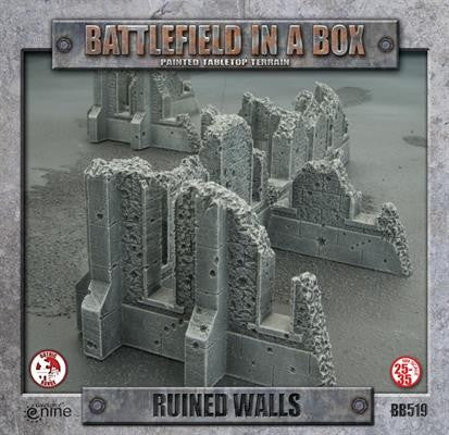 BATTLEFIELD IN A BOX: GOTHIC TERRAIN - RUINED WALLS BB519