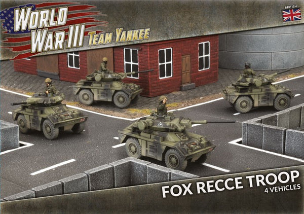 FOX RECCE TROOP (x4 PLASTIC VEHICLES) TBBX13