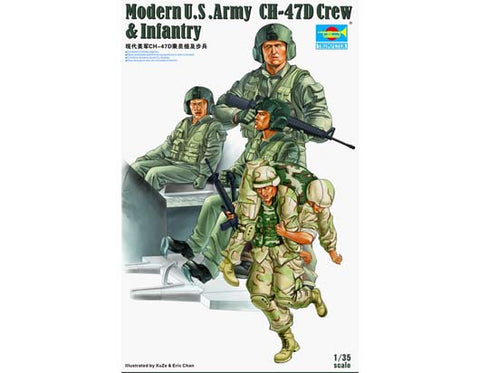 1/35 TRUMPETER MODERN US ARMY CH-47D CREW AND INFANTRY TR00415