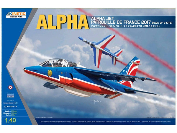 1/48 KINETIC ALPHAJET PATROUILLE DE FRANCE 2017 (2 KITS !)