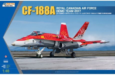 1/48 KINETIC CF-188A CANADIAN HORNET DEMO TEAM 2017  KI48070