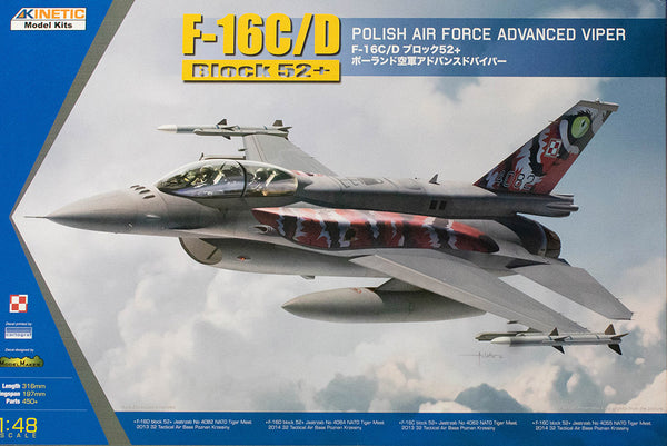 1/48 KINETIC F-16C/D BLOCK 52+ POLISH AIR FORCE ADVANCED VIPER K48076