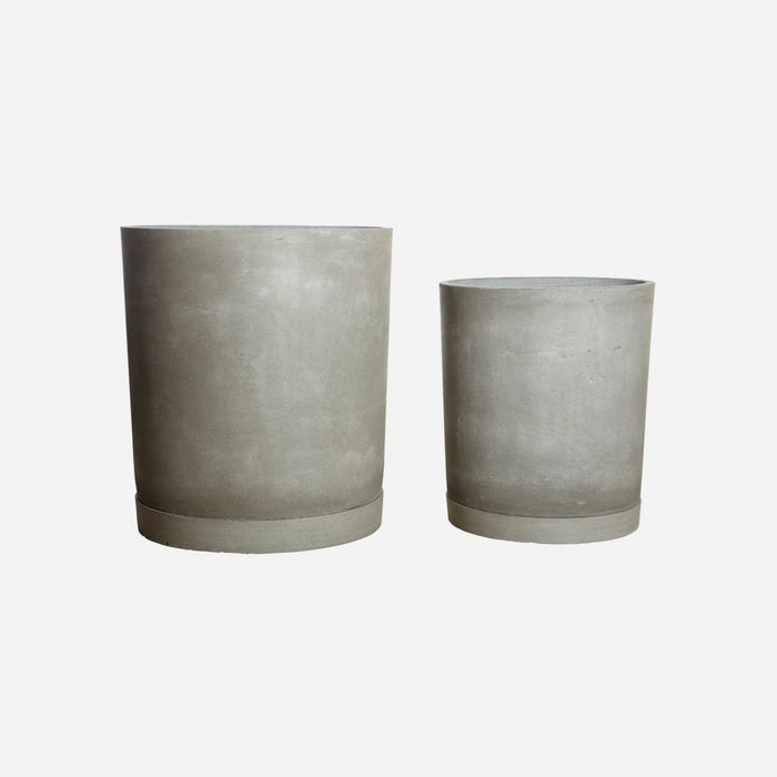 PLANTER w/TRAY HOOK - LIGHT GREY LG