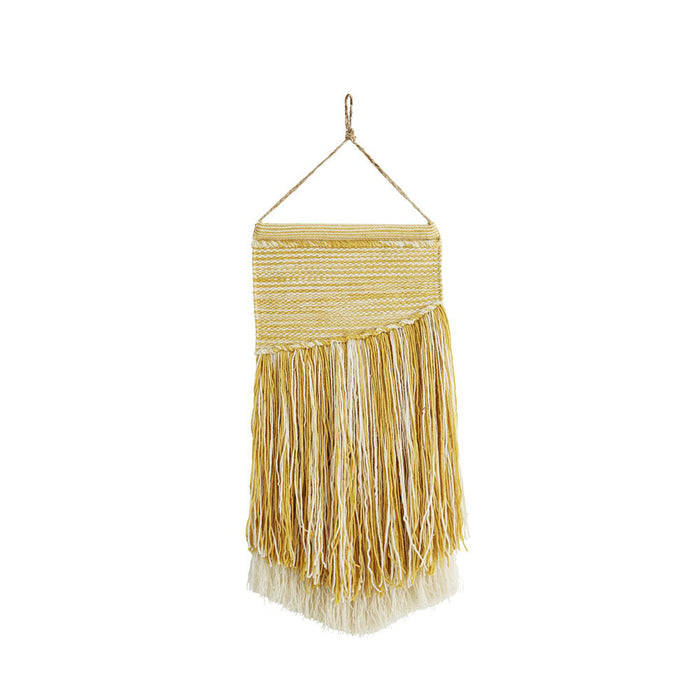 Large Macrame Wall Hanging, Yellow
