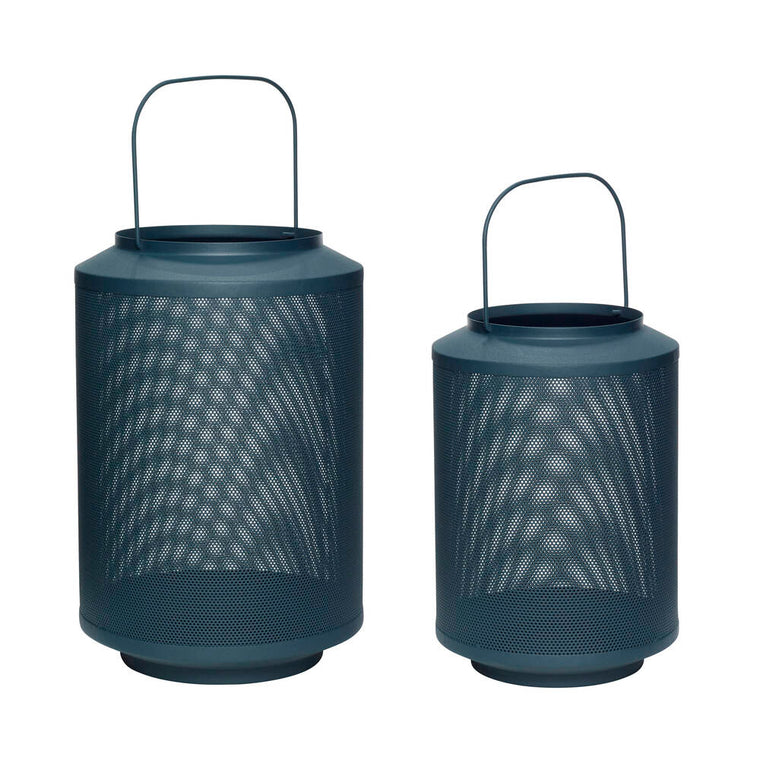 LANTERN - METAL GREEN (SET OF 2)