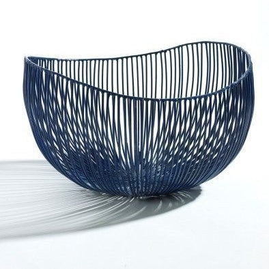 WIRE BASKET TALE BLUE