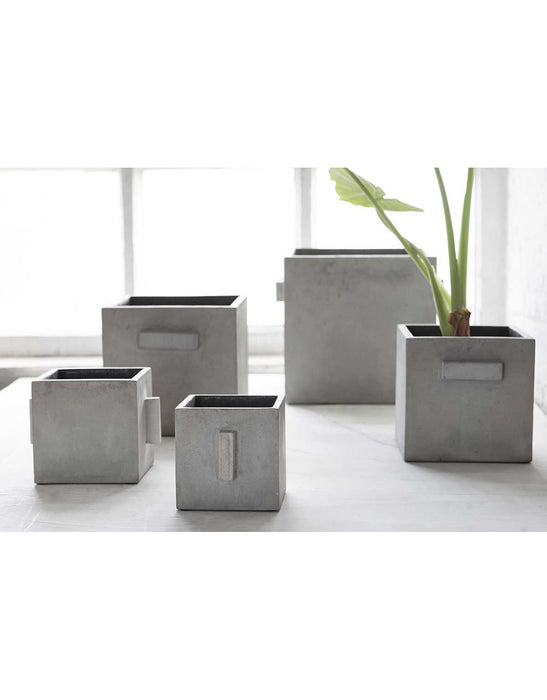FLOWER POT CONCRETE - LG
