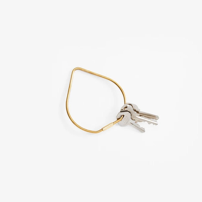 KARL ZAHN KEYCHAIN - BRASS DROP