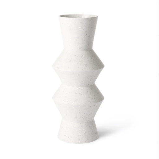 SPECKLED CLAY VASE ANGULAR