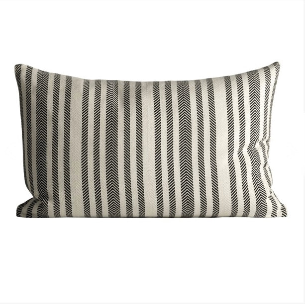 THICK HERRINGBONE CUSHION COVER W/STRIPES