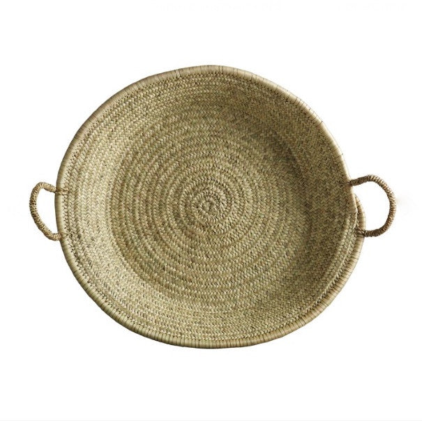 BASKET with HANDLES, NATURAL