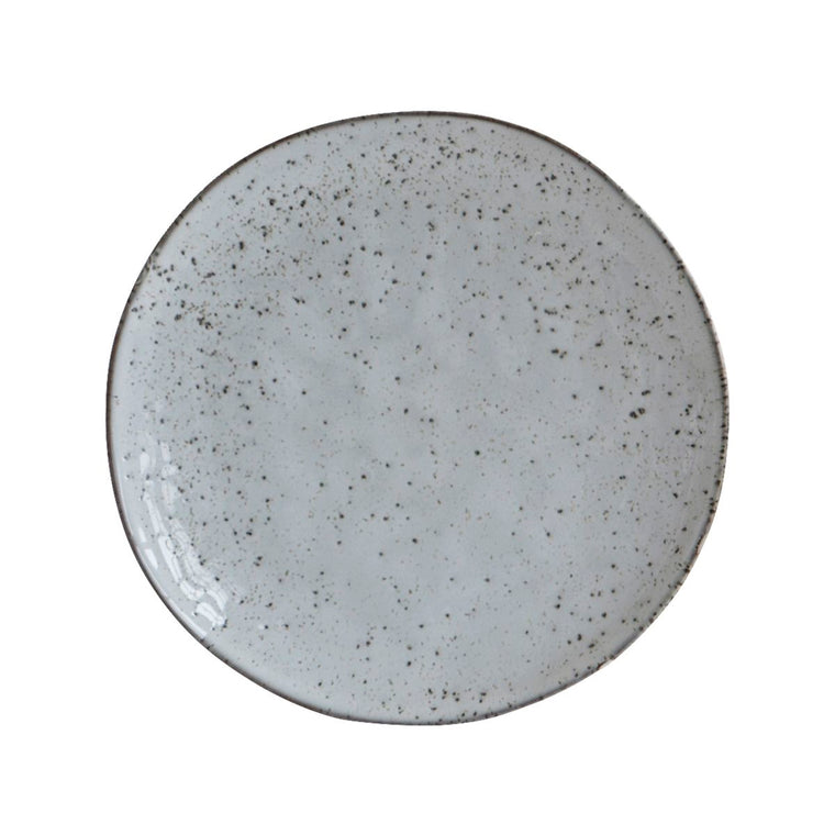 LUNCH PLATE RUSTIC GREY/BLUE
