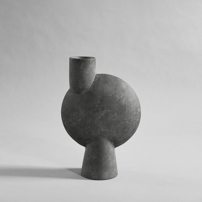 SPHERE VASE BUBL BIG - DARK GREY