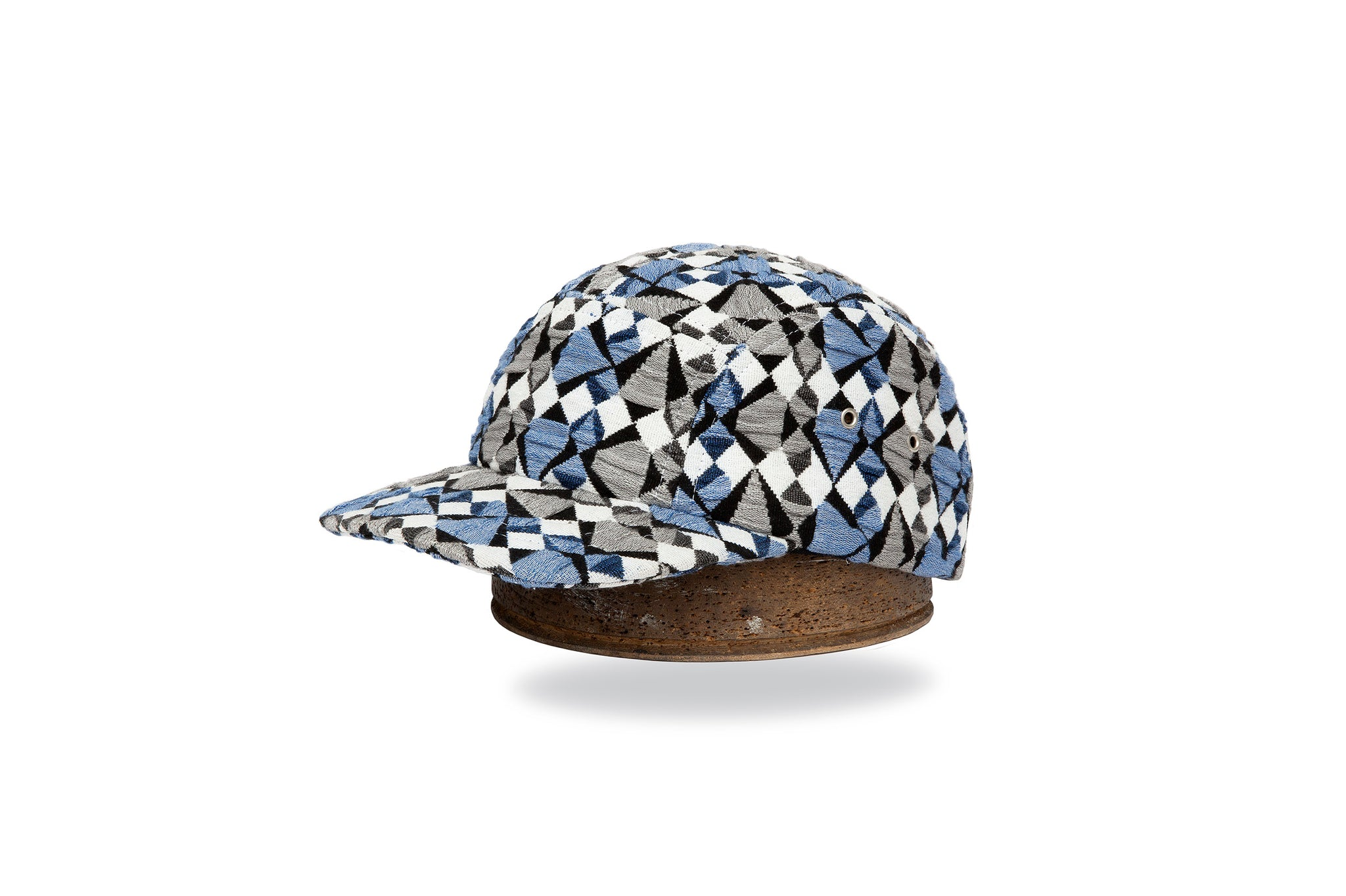 BLUE/BLACK/WHITE GEO CAP