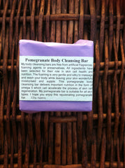 Pomegranate body cleansing bar
