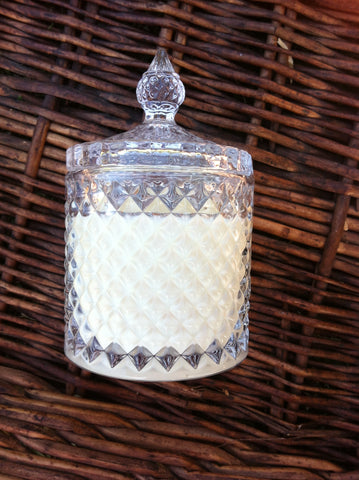 Castle crystal glass soy candle