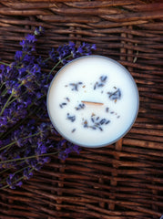 Lavender essential oil Tin soy candle