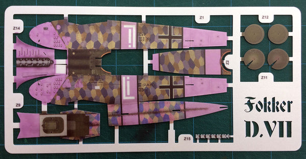 Fokker DVII Spare Parts - 1mm Fuselage Sheet