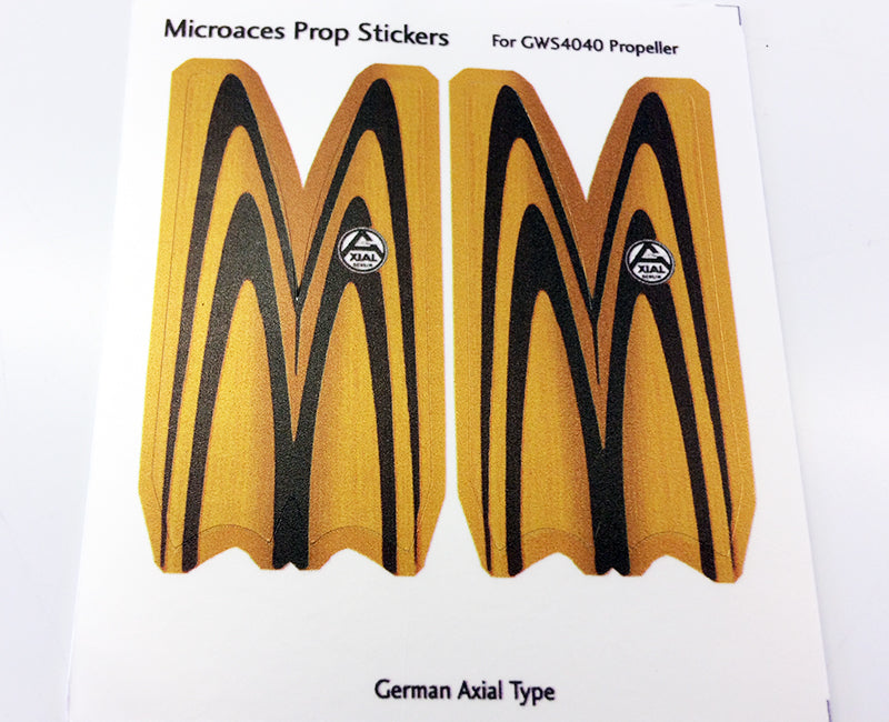 GWS 4040 Propeller Sticker - German