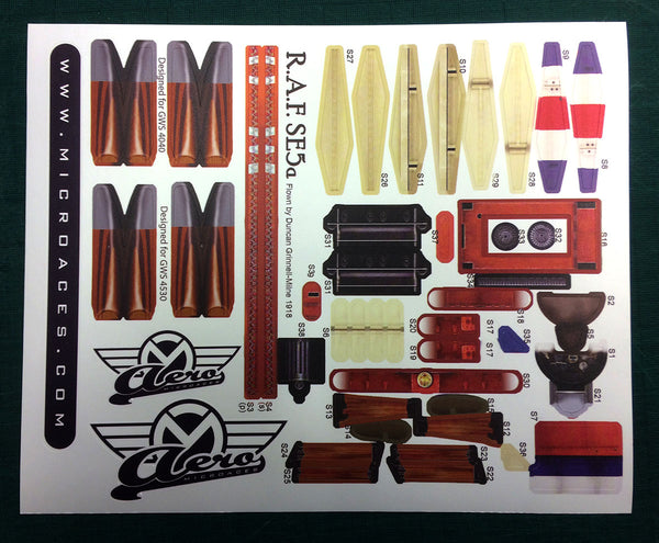 SE5a Spare Parts - Sticker Sheet