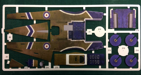 SE5a Spare Parts - 1mm Fuselage Sheet