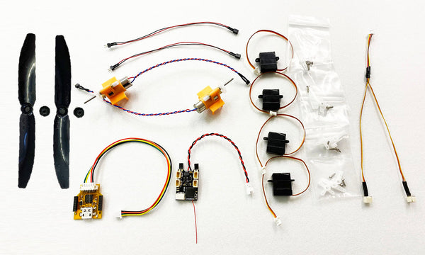 Microaces Twin ESC Flight Pack - Standard Propshaft