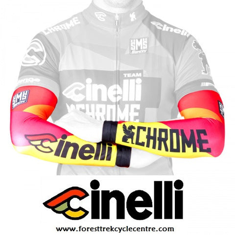 2015 TEAM CINELLI CHROME ARM WARMERS - Foresttrek Cycle Centre Cycling Bicycle