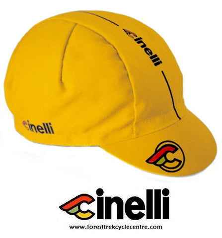 CINELLI  SUPERCORSA CAP - Yellow - Foresttrek Cycle Centre Cycling Bicycle