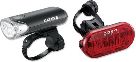 Cateye HL-EL135 Front / Omni 3 Rear Bike Light Set - Foresttrek Cycle Centre Cycling Bicycle