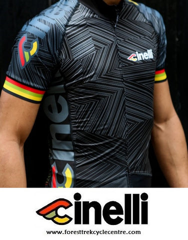 2016 CINELLI ITALO '79 AERO BLACK JERSEY - PRE-ORDER ONLY - Foresttrek Cycle Centre Cycling Bicycle