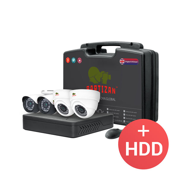 2.0MP Mixed set AHD-12 <br> 4xCAM + 1xDVR + HDD