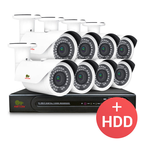 2.0MP Outdoor set PRO IP-5<br />8xCAM + 1xNVR + HDD