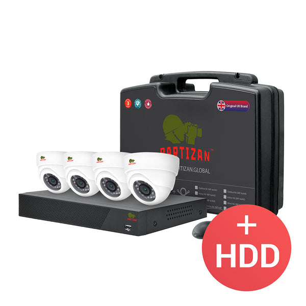 Indoor set AHD-4<br> 4x1.0MP CAM + 1xDVR + HDD